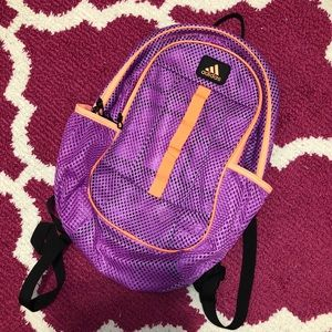 Adidas Hermosa Mesh Backpack purple and Orange